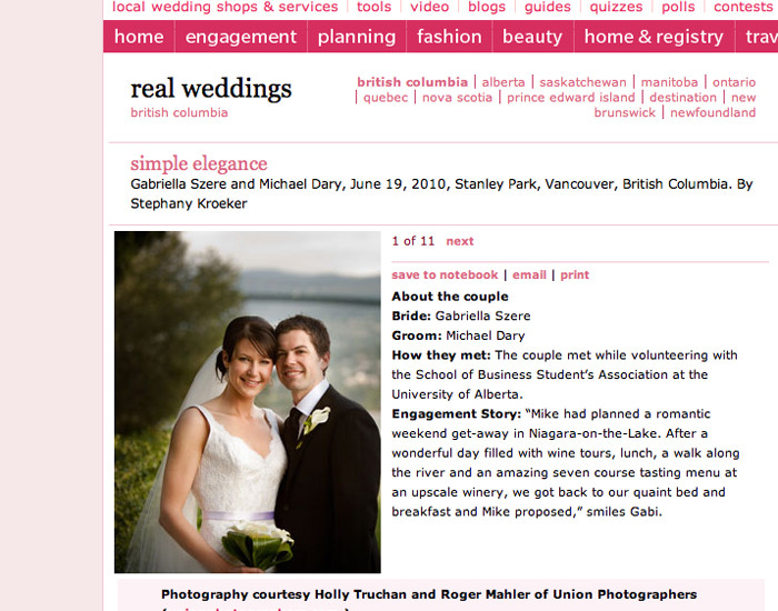 Featured on wedding bells union photographers featured on wedding bells junglespirit Choice Image