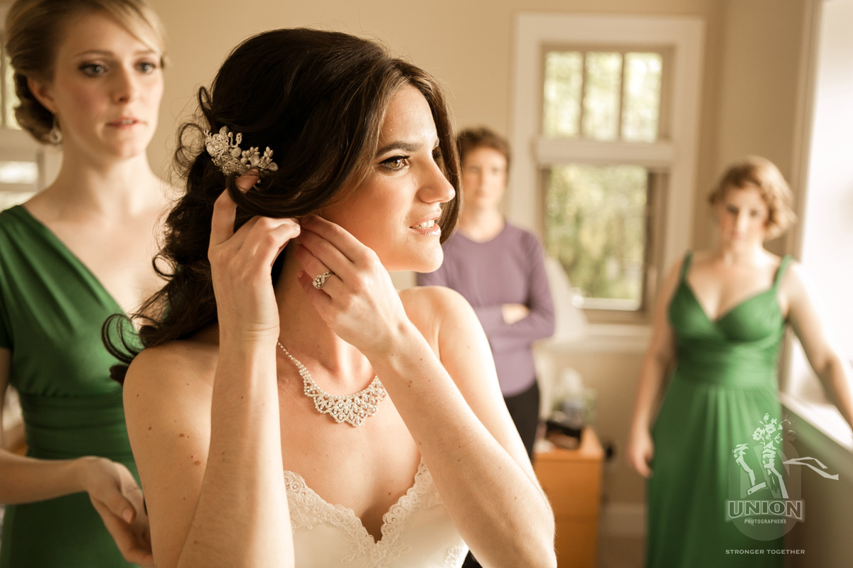 stunning bride getting ready