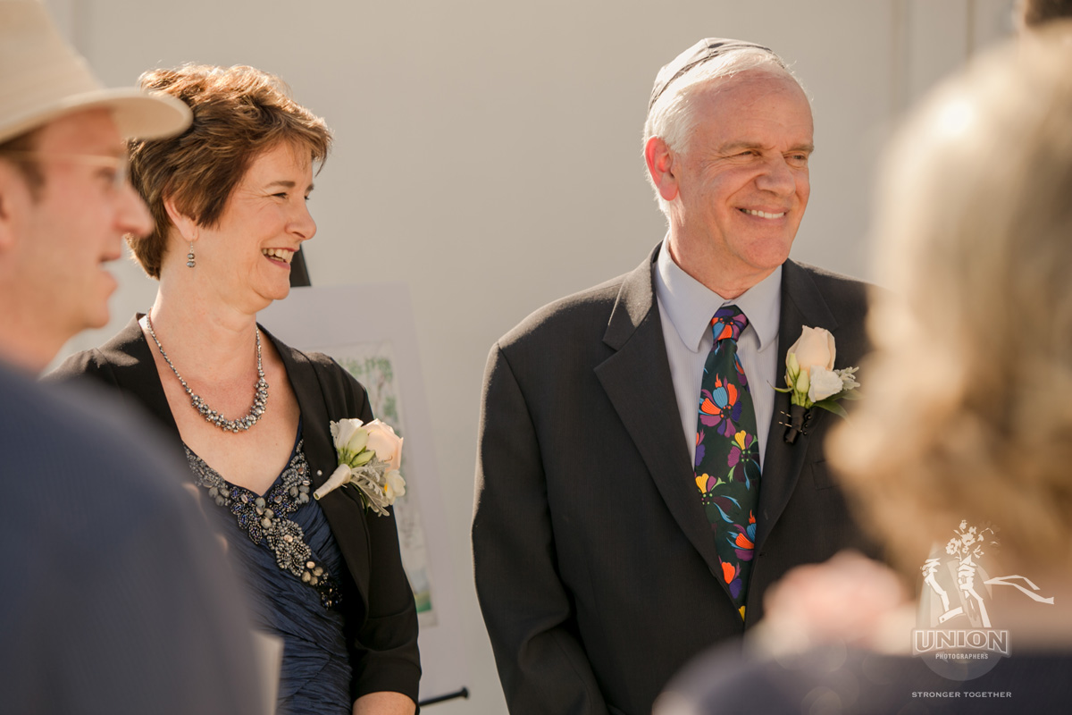 happy parents of the bride