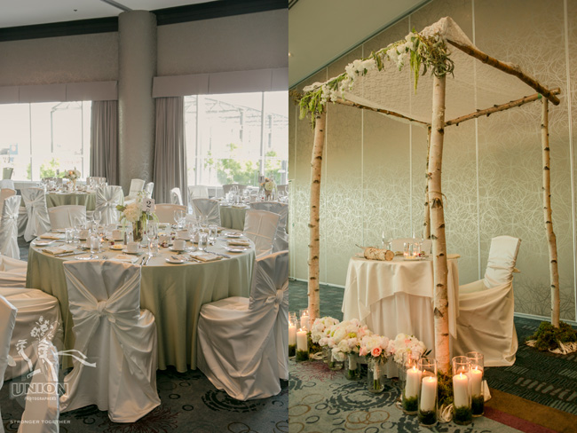 Chair Decor linens and chuppah by Fairy Godmother Weddings