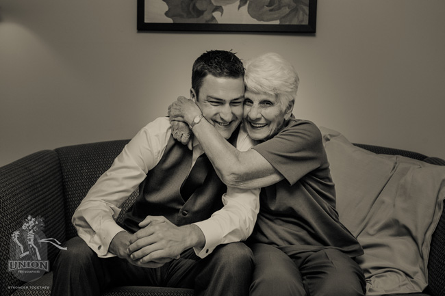 groom and his grandma