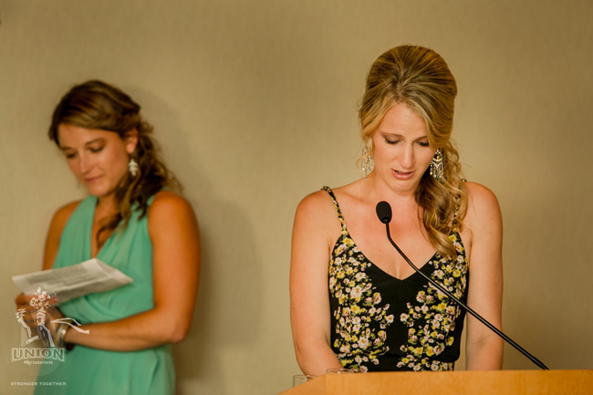 groom's sisters loving speech