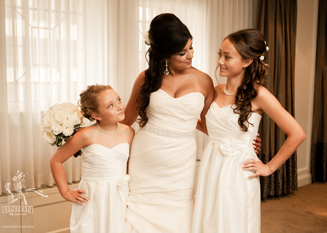 bride and her step daughters