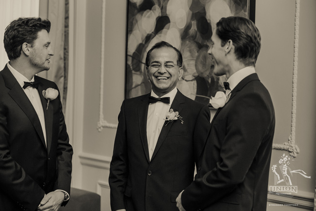 candid of groom laughing