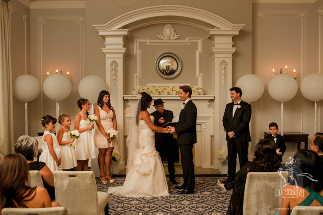wedding ceremony at Vancouver Club