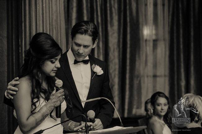 bride and groom's speech