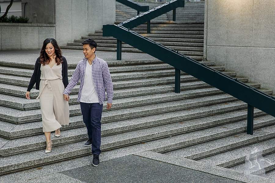 urban Vancouver engagement photo