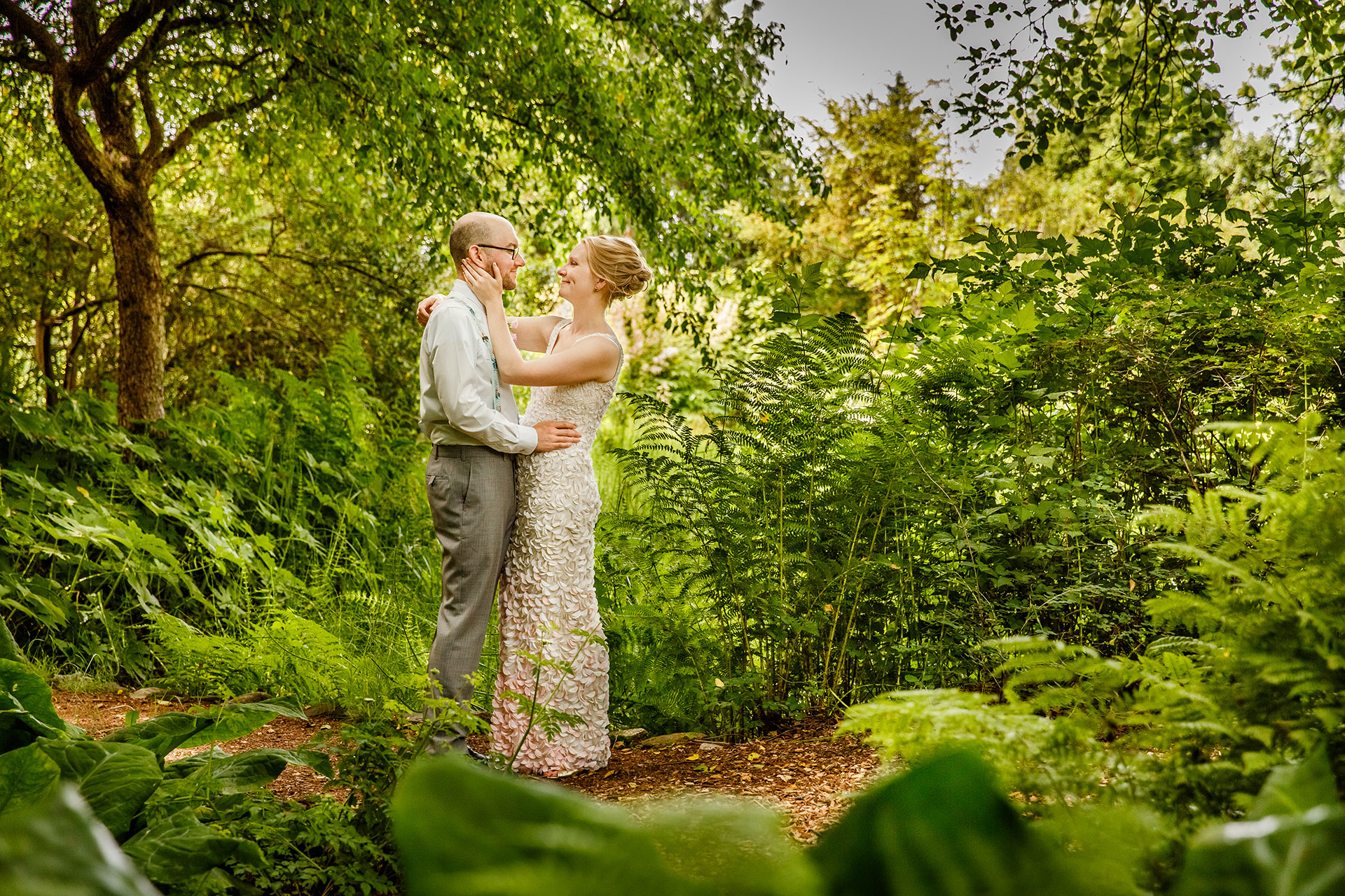 UBC botanical garden wedding photo