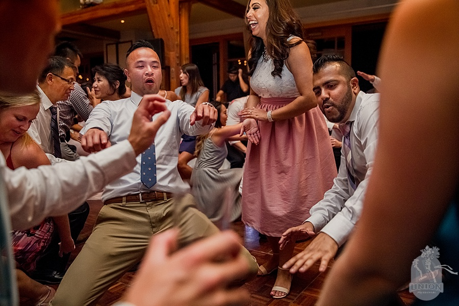getting down at Westwood Plateau wedding