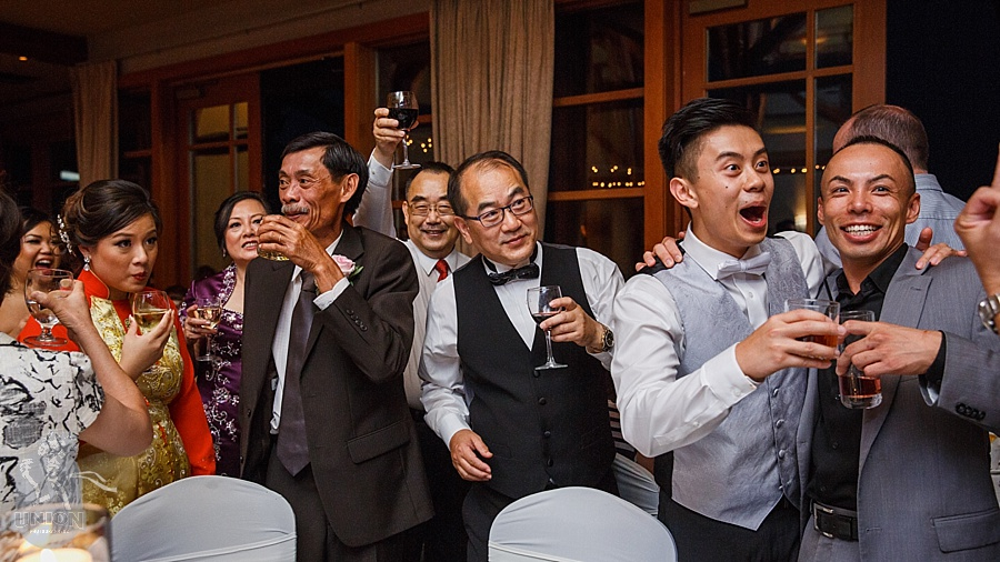Chinese wedding toasting tables fun at Westwood Plateau