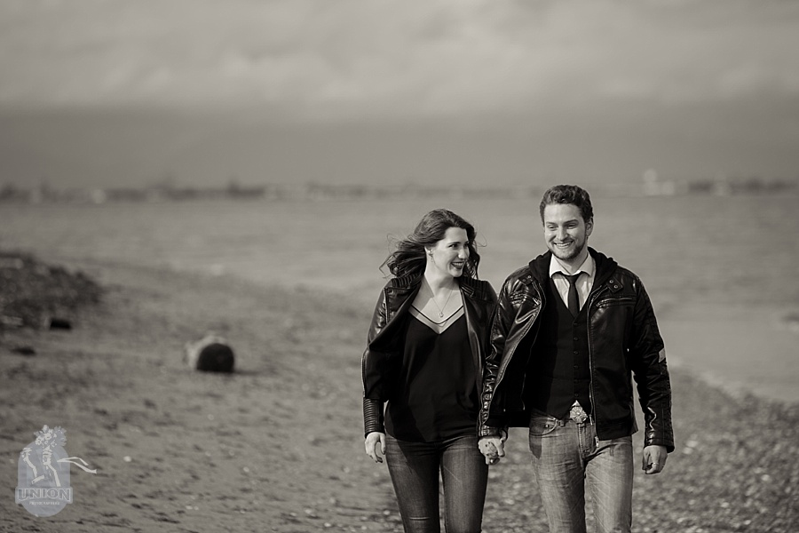 engagement photo at Centennial Beach