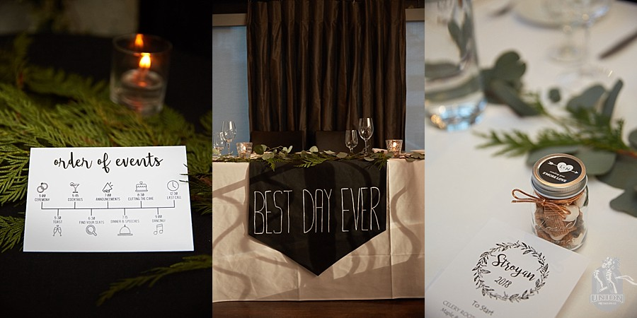 Brix and Mortar wedding decor
