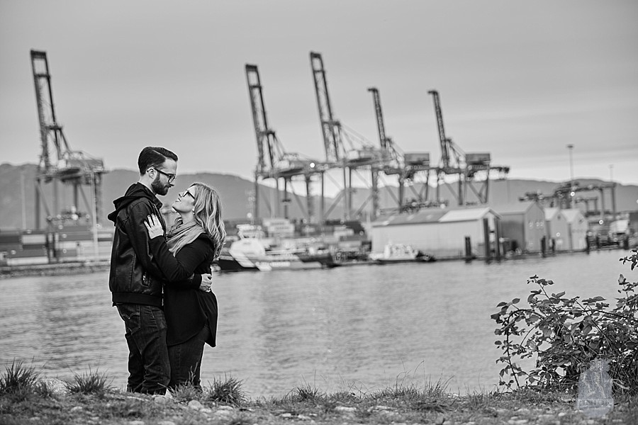 Crab Park Engagement photo shoot