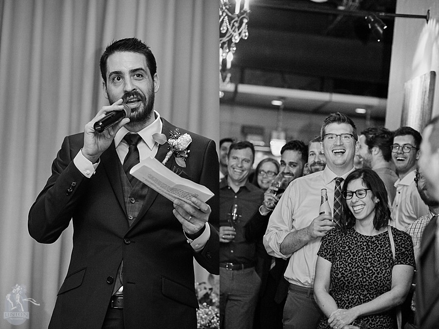 wedding speeches at Brix and Mortar